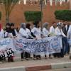 """الطلبة الممرضون بـ""""تيزنيت"""" يواصلون احتجاجاتهم أمام مقر الـ PPS"""