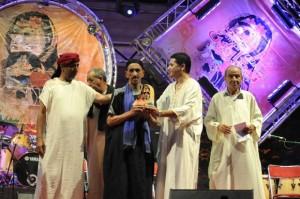 لحظة تكريم بمهرجان تيفاوين في دورة 2014