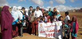 جمعية صوت الطفل تقوم بتوزيع ملابس على أطفال جماعة أربعاء الساحل