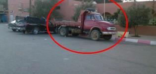 درك تيغيرت يوقف شاحنة لنقل الرمال بطرق غير مشروعة