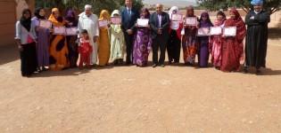 مجموعة مدرسية بجماعة تيوغزة إقليم سيدي إفني تحتفل باليوم العالمي للمرأة
