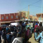 سيدي إفني ... تلاميذ يتضامنون مع الأساتذة المتعاقدين بمسيرة احتجاجية