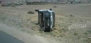 انقلاب سيارة لوزارة الصحة بجماعة تيوغزة